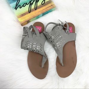 Dolce Vita Shoes - Dolce Vita Grey Ankle Buckle Sandals